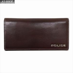 POLICE ポリス 財布サイフ ボルドゥーラ 二つ折り長財布 PLC132 BROWN|at-shop