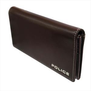 POLICE ポリス 財布サイフ ボルドゥーラ 二つ折り長財布 PLC132 BROWN|at-shop|03