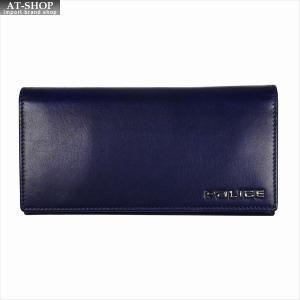 POLICE ポリス 財布サイフ ボルドゥーラ 二つ折り長財布 PLC132 NAVY|at-shop