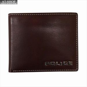 POLICE ポリス 財布サイフ ボルドゥーラ 二つ折り財布 PLC133 BROWN|at-shop