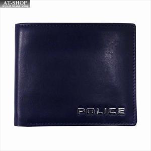 POLICE ポリス 財布サイフ ボルドゥーラ 二つ折り財布 PLC133 NAVY|at-shop