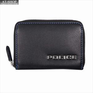 POLICE ポリス 財布サイフ ボルドゥーラ ラウンドファスナー小銭入れ PLC135 BLACK|at-shop