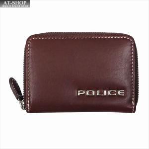 POLICE ポリス 財布サイフ ボルドゥーラ ラウンドファスナー小銭入れ PLC135 BROWN|at-shop