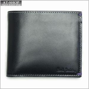ポールスミス Paul Smith 1033 950 二つ折り折財布 ブラック|at-shop