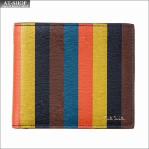 ポール・スミス PaulSmith 二つ折り財布 M1A 4833 A40023 96 BrightStripe|at-shop
