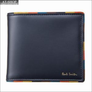 ポール・スミス PaulSmith 二つ折り財布 M1A 4833 AEDGE 47 Navy|at-shop