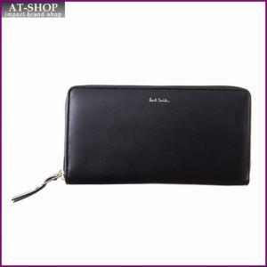 ポールスミス PaulSmith WPXA 4609 W744A BLACK ラウンドファスナー長財布 *|at-shop