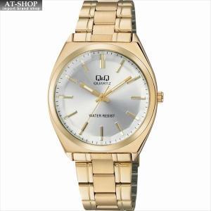 CITIZEN シチズン 腕時計 Q&Q カットガラス クラシック メンズ時計 QB78-001 シルバー/ゴールド|at-shop