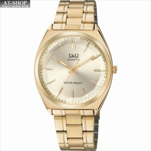 CITIZEN シチズン 腕時計 Q&Q カットガラス クラシック メンズ時計 QB78-010 ゴールド|at-shop
