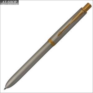 PARKER パーカー ボールペン ソネット オリジナル ステンレススチールGT 複合筆記具(ボールペン黒、赤+シャープペン)新タイプ S111306620 at-shop