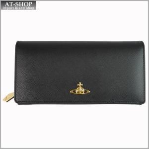 Vivienne Westwood ヴィヴィアン・ウェストウッド 財布サイフ NO,8 SAFFIANO 二つ折り長財布 1032V30V BLACK 17SS ブラック|at-shop