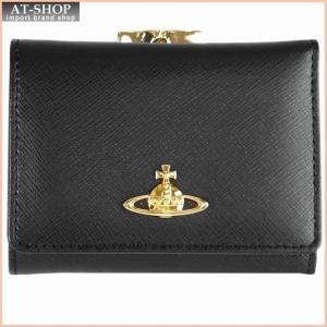 Vivienne Westwood ヴィヴィアン・ウェストウッド 財布サイフ NO,8 SAFFIANO 三つ折り財布(ガマ口小銭入れ付き) 1311V35V BLACK 18SS ブラック|at-shop