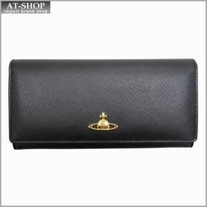 Vivienne Westwood ヴィヴィアン・ウェストウッド 財布サイフ NO,8 SAFFIANO 二つ折り長財布 2800V BLACK 17SS ブラック|at-shop