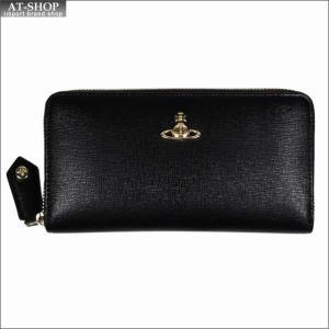 Vivienne Westwood ヴィヴィアン・ウェストウッド 財布サイフ NO,10 SAFFIANO ラウンドファスナー長財布 51050023 BLACK 18SS ブラック|at-shop