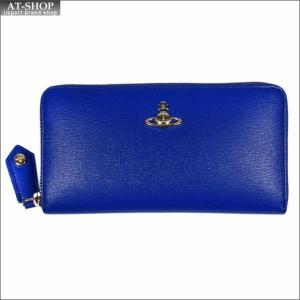 Vivienne Westwood ヴィヴィアン・ウェストウッド 財布サイフ NO,10 SAFFIANO ラウンドファスナー長財布 51050023 BLUE 18SS ブルー|at-shop