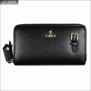 Vivienne Westwood ヴィヴィアン・ウェストウッド 財布サイフ NO,10 SAFFIANO 財布ポシェット ショルダーウォレット  51050026 BLACK 18SS ブラック|at-shop
