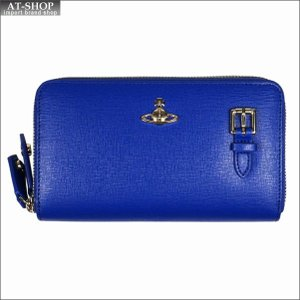 Vivienne Westwood ヴィヴィアン・ウェストウッド 財布サイフ NO,10 SAFFIANO 財布ポシェット ショルダーウォレット  51050026 BLUE 18SS ブルー|at-shop