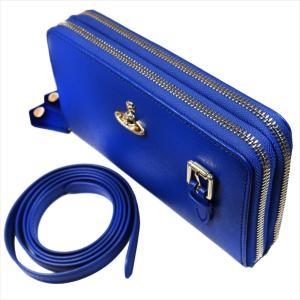 Vivienne Westwood ヴィヴィアン・ウェストウッド 財布サイフ NO,10 SAFFIANO 財布ポシェット ショルダーウォレット  51050026 BLUE 18SS ブルー|at-shop|05