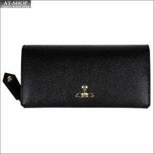 Vivienne Westwood ヴィヴィアン・ウェストウッド 財布サイフ NO,10 SAFFIANO 二つ折り長財布 51060025 BLACK 18SS ブラック|at-shop
