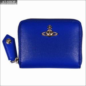 Vivienne Westwood ヴィヴィアン・ウェストウッド 財布サイフ NO,10 SAFFIANO 小銭入れ ラウンドファスナー財布 51080001 BLUE 18SS ブルー|at-shop