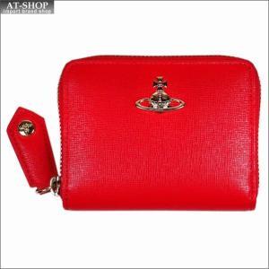 Vivienne Westwood ヴィヴィアン・ウェストウッド 財布サイフ NO,10 SAFFIANO 小銭入れ ラウンドファスナー財布 51080001 RED 18SS レッド|at-shop