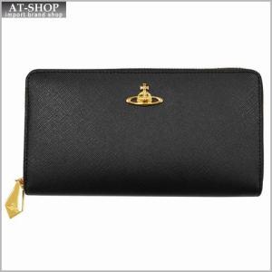 Vivienne Westwood ヴィヴィアン・ウェストウッド 財布サイフ NO,8 SAFFIANO ラウンドファスナー長財布 5140 BLACK 17SS ブラック|at-shop