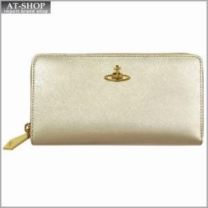 Vivienne Westwood ヴィヴィアン・ウェストウッド 財布サイフ NO,8 SAFFIANO ラウンドファスナー長財布 5140 GOLD 17SS ゴールド|at-shop