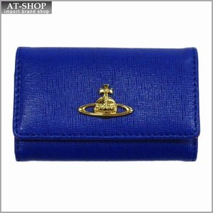 Vivienne Westwood ヴィヴィアン・ウェストウッド キーケース NO,8 SAFFIANO 720V01V BLUETTE 17SS ブルー|at-shop