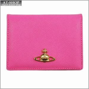 Vivienne Westwood ヴィヴィアン・ウェストウッド カードケース NO,8 SAFFIANO 724V05V PINK 17SS ピンク|at-shop