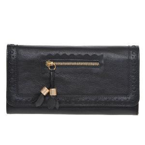 SEE BY CHLOE シーバイクロエ 財布サイフ HIRO アイロ 二つ折り長財布 9P7174-N152-001 BLACK ブラック|at-shop