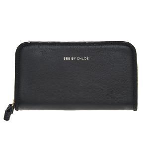 SEE BY CHLOE シーバイクロエ 財布サイフ ラウンドファスナー 長財布 9P7236-N175-001 BLACK ブラック|at-shop