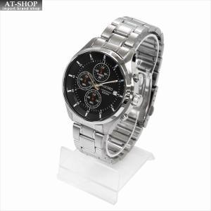 SEIKO セイコー 腕時計 クォーツ クロノグラフ SKS539P ブラック×シルバー|at-shop