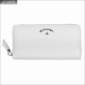 Vivienne Westwood ヴィヴィアン・ウェストウッド 財布サイフ NO,10 SONIA ラウンドファスナー長財布 51050024 WHITE 18SS ホワイト|at-shop