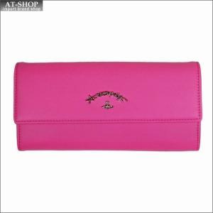 Vivienne Westwood ヴィヴィアン・ウェストウッド 財布サイフ NO,10 SONIA 二つ折り長財布 51060017 PINK 18SS ピンク|at-shop