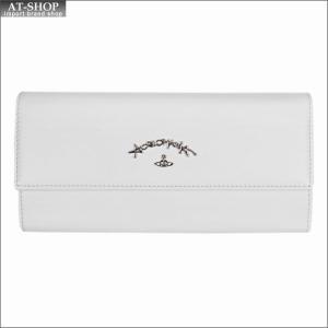 Vivienne Westwood ヴィヴィアン・ウェストウッド 財布サイフ NO,10 SONIA 二つ折り長財布 51060017 WHITE 18SS ホワイト|at-shop