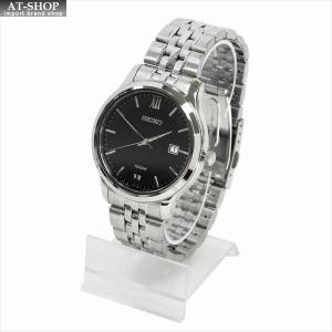 SEIKO セイコー 腕時計 クォーツ SUR221P ブラック×シルバー|at-shop