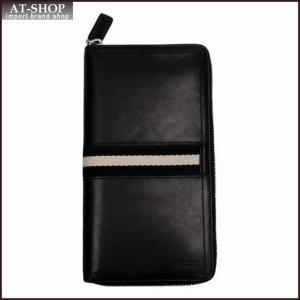BALLY バリー 財布サイフ ラウンドファスナー長財布 TALEN 290 BLACK 6206815 ブラック|at-shop