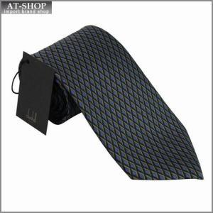 DUNHILL ダンヒル ネクタイ 約8.5cm ブルー×イエロー×ブラック td2700r|at-shop