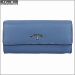Vivienne Westwood ヴィヴィアン・ウェストウッド 財布サイフ NO,8 TYWYN 二つ折り長財布 39.0027 BLUE 17SS ブルー|at-shop