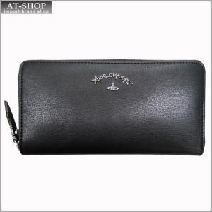 Vivienne Westwood ヴィヴィアン・ウェストウッド 財布サイフ NO,8 TYWYN ラウンドファスナー長財布 39.0028 BLACK 17SS ブラック|at-shop