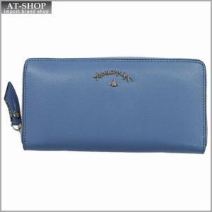 Vivienne Westwood ヴィヴィアン・ウェストウッド 財布サイフ NO,8 TYWYN ラウンドファスナー長財布 39.0028 BLUE 17SS ブルー|at-shop