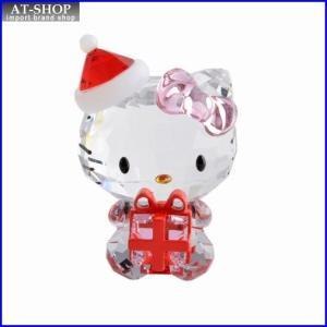 スワロフスキー SWAROVSKI 5058065 Hello Kitty Christmas Gift ハローキティ 「サンタクロース クリスマス ギフト」 クリスタルフィギュア 置物|at-shop