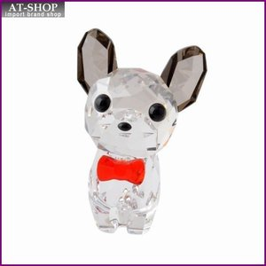 スワロフスキー SWAROVSKI 5213639 Puppy - Bruno キュートな子犬シリーズ フレンチブルドック 「ブルーノ」 クリスタル フィギュア 置物|at-shop