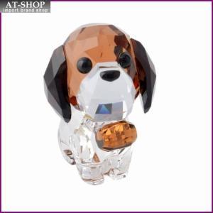 スワロフスキー SWAROVSKI 5213704 Puppy - Bernie キュートな子犬シリーズ セントバーナード 「バーニー」 クリスタル フィギュア 置物|at-shop