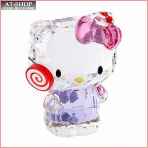 スワロフスキー SWAROVSKI 5269295 Hello Kitty Lollipop ハローキティ 「ロリポップ」 クリスタルフィギュア 置物|at-shop