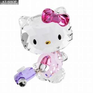 スワロフスキー SWAROVSKI 5279082 ハローキティ 「トラベラー」 クリスタルフィギュア 置物 Hello Kitty Traveller Globe Trotteuse|at-shop