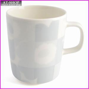 マリメッコ marimekko 067304 190 white/grey RUUTU-UNIKKO MUG 250ml マグカップ|at-shop