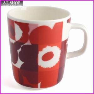マリメッコ marimekko 067304 330 red/pink RUUTU-UNIKKO MUG 250ml マグカップ|at-shop