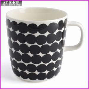 マリメッコ marimekko 067497 190 white/black RASYMATTO MUG 400ml マグカップ|at-shop
