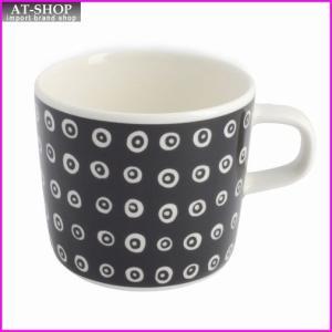 マリメッコ marimekko 067509 910 black/white KARAKOLA GLOGG CUP 200ml グロッギカップ コーヒーカップ|at-shop